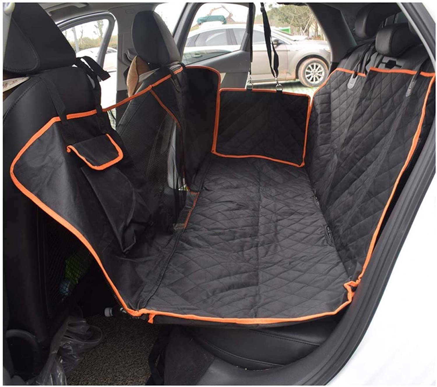 HOSHT Dog Car Seat Cover with Visible Window, Car Boot Predector Waterproof Scratch Proof Antiskid for Car Truck SUV