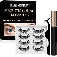 Pestañas Magnéticas,Pestañas Magneticas Delineador,Magnéticas Eyeliner Waterproof,PestañasPostizas Magnéticas Kit,No se Necesita Pegamento,Reutilizables(4 pares)