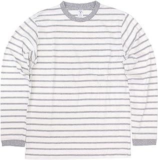 [ベルバシーン] 161738U アンイーブンボーダー 長袖Tシャツ アメリカ製