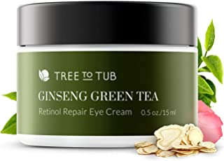 Gentle Retinol Eye Cream by Tree To Tub - pH 5.5 Anti Aging Eye Cream for Wrinkle Repair, Eye Bags and Dark Circles. Pure Hyaluronic Acid Eye Serum for Overnight Deep Hydration, for All Ages 0.5 oz