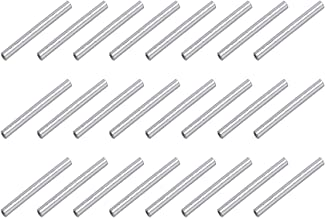HooAMI 925 Sterling Silver Tube Bead Jewelry Making Findings 15mmx1.5mm About 30pcs