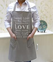 Apron Designs Fashion Men's Apron Thicken Canvas Sweet Love Printed Apron for Home Cooking
