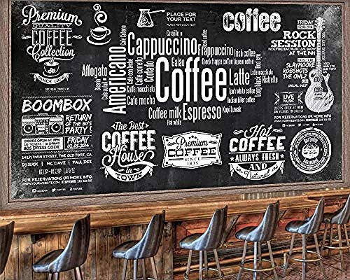 Fondo de pantalla personalizado pizarra café periódico herramientas fondo pared restaurante wine bar cafe fondo de pantallaPapel Pintado a papel Fotográfico Fotomural dormitorio-150cm×105cm