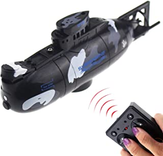 Tipmant Mini RC Submarine Radio Remote Control Boat Ship Military Model Electric Water Toy Waterproof Diving Kids Gift