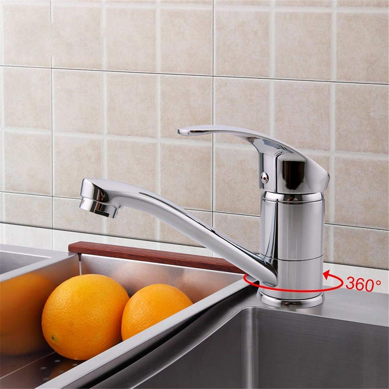 Cwill Modern Chrome Finish Silber Küchenarmatur Einhand Warmes und Kaltes Wasser 360 Rotation F4521-2