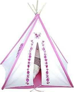【木kara】 窓アリ ティーピーテント子供用可愛いテント!キッズ室内用/おもちゃ/ままごと/秘密基地/知育玩具/木製