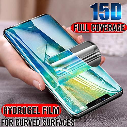 XLLXPZ Película Protectora de hidrogel 15D, para Huawei P10 P20 Lite Pro P Smart 2019 Protector de Pantalla, para Huawei Mate 20 10 Lite Pro no Vidrio