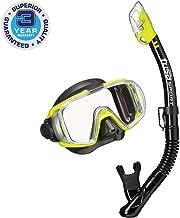 TUSA Sport Adult Visio Tri-Ex Black Series Mask and Dry Snorkel Combo