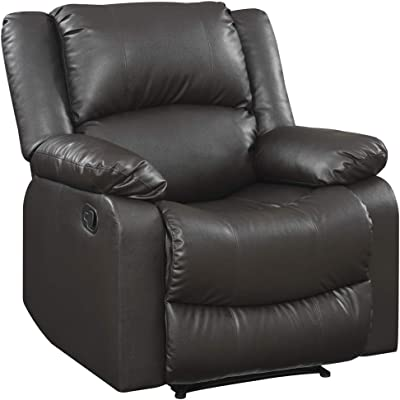 Stupendous Amazon Com Divano Roma Furniture Recliner Chair Black Pdpeps Interior Chair Design Pdpepsorg