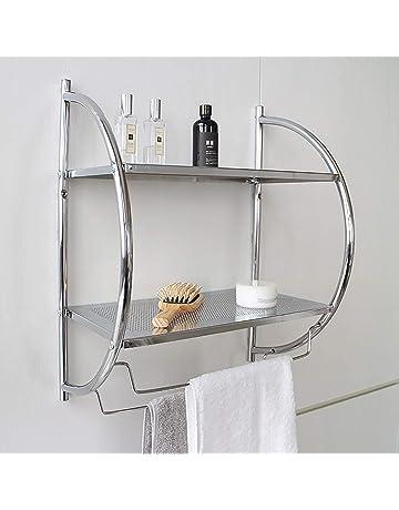 LSS-MDS Mensola da Bagno con Doccia mensola del Bagno di Rame cremagliera Antico Staffa asciugacapelli Oro