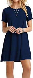 Viishow Women's Basic Sleeveless Casual Loose T-Shirt Dress