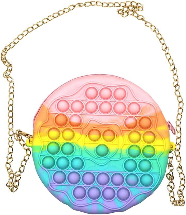 ALINUO Mesa Mall Anti-Stress Donut Superlatite Push Bubble Deco Kid Bag Adult Shoulder