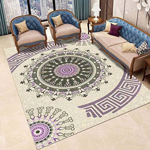 HXJHWB alfombras con Antideslizantes - Sala de Estar sofá Mesa de Centro patrón Exquisito Alfombra Moda impresión 3D Degradado Multicolor-El 120CMx180CM