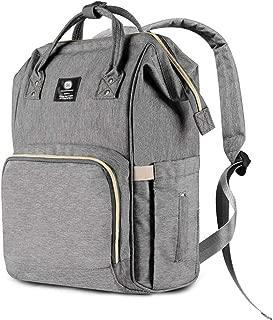 Diaper Bag Backpack,Large Capacity Multifunction Waterproof Maternity Baby Nursing Nappy Bags,Grey