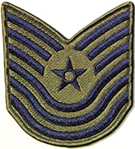 US USAF Air Force Master Technical Sergeant Rank Pilot Tab army navy academy military us air force academy cavalry marine corps national guard logo Jacket Patch Sew Iron on Embroidered Sign Badge Costume