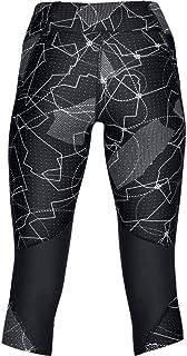 البنطال الرياضي فلاي فاست المزين بنقش للنساء من اندر ارمور - لون اسود، مقاس XL (1320321-007-XL)