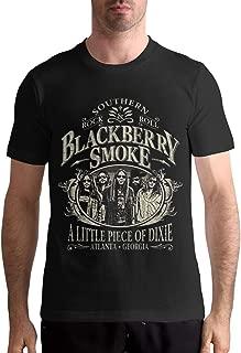 BlackBerry Smoke Men's T Shirt Cotton Fashion Sports Casual Round Neck Short Sleeve Tees