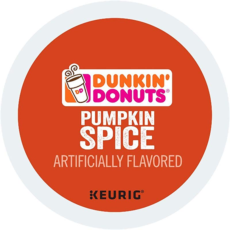 Dunkin Donuts Pumpkin Spice Coffee Ground Single Serve Capsules For Keurig K Cup Pod Brewers 24 Count