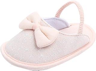 [BAOMABA] ベビーシューズ 子供靴 ルームシューズ 幼児の靴 滑り止め 暖かい スリッパ 屋内 弾性バンド ソフトソール かわいい 蝶結び 動物 あひる おしゃれ ガールズ ボーイズ