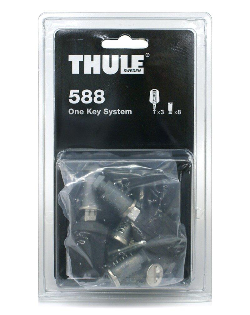 Thule TH588 CRUZBER, Negro, Plata, 8 BOMBINES/1LLAVE: Amazon.es ...