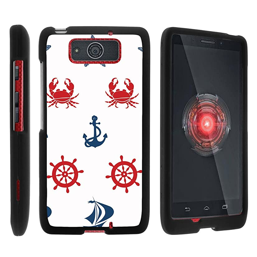 Motorola Droid Maxx Case XT1080 | Droid Ultra Case XT1080M [Slim Duo] Hard Shell Snap On Case Compact Fitted Protector Matte on Black Sea Ocean Design by TurtleArmor - Marine Pattern