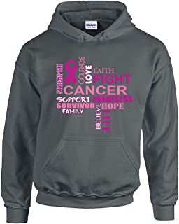 CAMALEN Breast Cancer Awareness Support Hope Life Fight Unisex Hoodie Hooded Sweatshirt