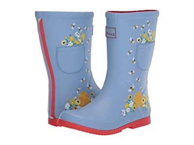 Joules Kids Roll Up Welly (Toddler/Little Kid/Big Kid) (Blue Bees) Girl
