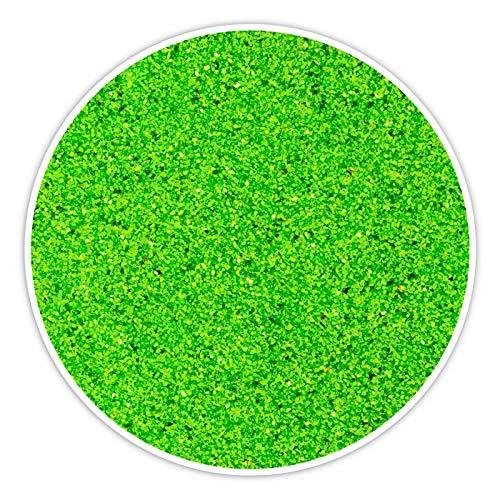 DecoLite Farbsand/Dekosand (1 kg) Farbiger Sand zum Dekorieren und Basteln (Grün)
