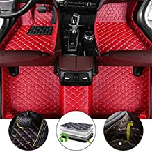 All Weather Floor Mat for 2010 Toyota 4Runner Full Protection Car Accessories Red 3 Piece Set