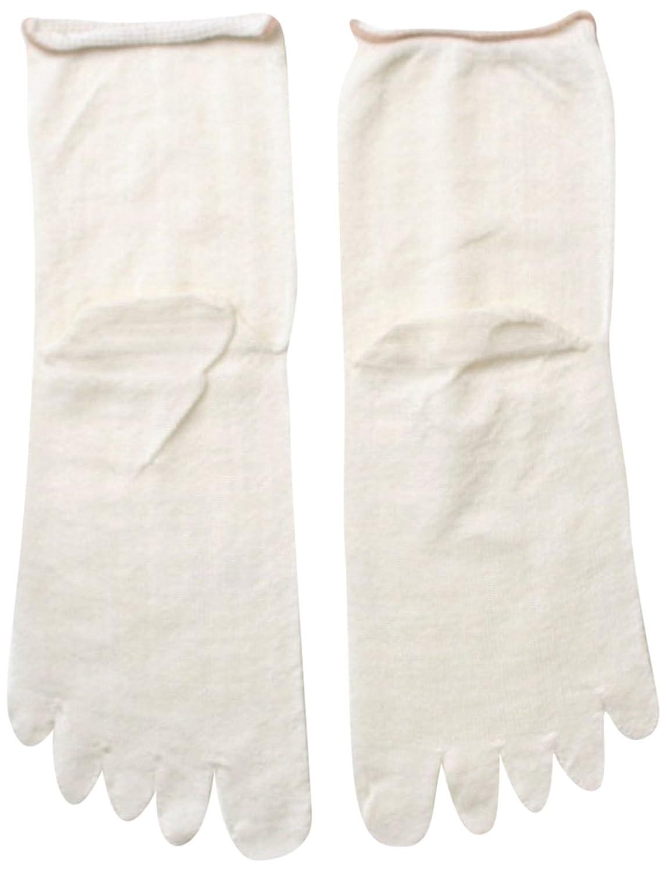 【絹屋】冷え取り靴下1枚目用 シルク 絹100% 5本指靴下 かかとあり(4156)