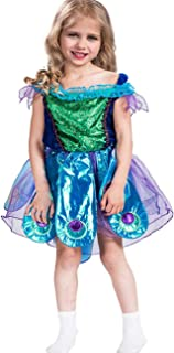 A&J DESIGN Kids Girls' Peacock Costume Tutu Dresses with Headband