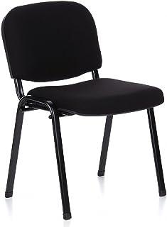 chaises visiteurs empilable bureau tissu vintage