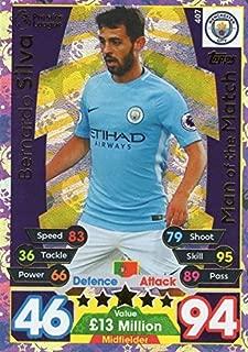 MATCH ATTAX 17/18 Bernardo Silva Man of the Match card #407 - Manchester City 2017/18
