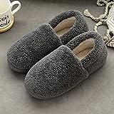 Men's Easy Close Shoe Slipper Bag Heel Indoor Cotton Shoes Warm Plush Slippers-Beige_UK7-UK7.5 New Mens Slip On Mules...