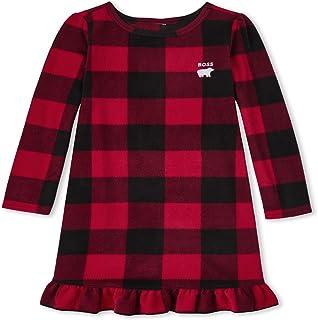 The Children's Place Girls' Bear Buffalo Plaid Fleece Nightgown