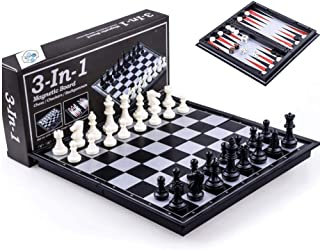 Beauenty Three In One Magnetic Chess / Checkers / Backgammon Educational Toys for Children and Adults (38810)