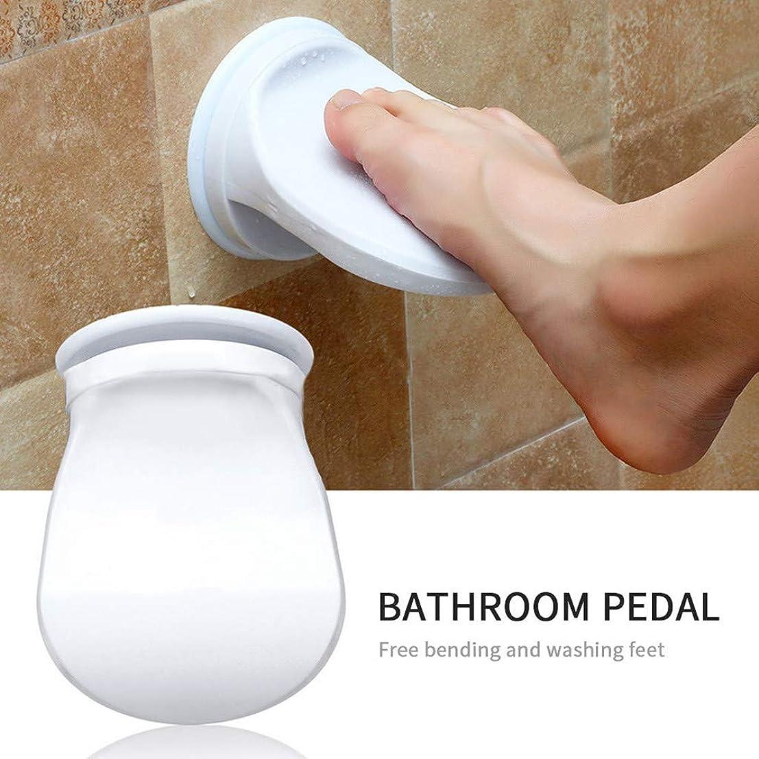 おかしいカップパートナーシャワーフットレスト,Tichan 洗濯シェービングレッグバスルームシャワー節約フットレストノンスリップ吸引カップ