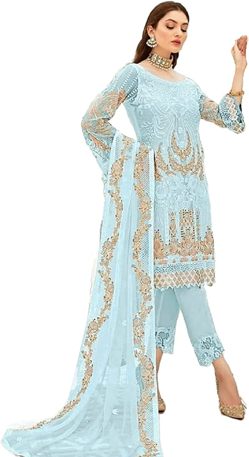 Pakistani Outfits Traditional Wear Salwar Kameez Trouser Pant Suits Ready to Wear Dress