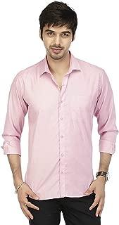 ZAKOD Plain Men's Wear Cotton Shirts for Formal Use,100% Pure Cotton Shirts,Available Sizes M=38,L=40,XL=42,6 Colors Available