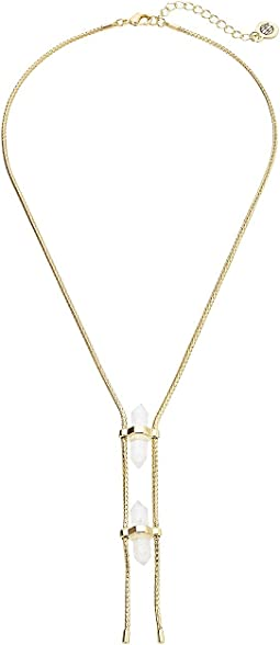 House of Harlow 1960 - Double Crystal Dainty Necklace
