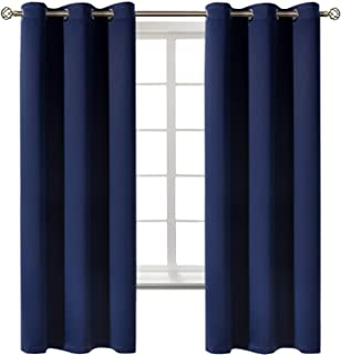 BGment Blackout Curtains for Bedroom - Grommet Thermal Insulated Room Darkening Curtains for Living Room, Set of 2 Panels...
