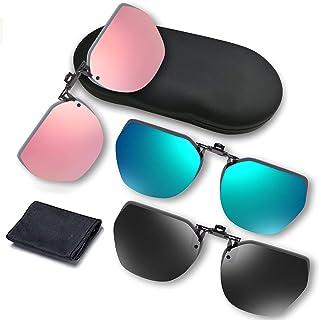 نظارات القيادة الليلية ونظارات شمسية بمشبك من أبا كلير، تقليل الوهج المستقطب، رؤية عالية الوضوح...