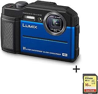 Panasonic Lumix Waterproof Digital Camera – This TS7 Tough Wi-Fi Camera with 3 Inch LCD, 20.4 Megapixels, 4.6X Zoom Lens – Blue – DC-TS7A (Renewed)
