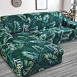 Funda de sofá de Sala de Estar Impresa en Forma de L Funda Protectora de sofá Funda de sofá de Esquina elástica a Prueba de Polvo A19 2 plazas