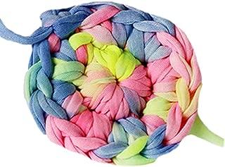 Clisil Colorful T-Shirt Yarn,Trapilho,Zpagetti Yarn,T Shirt Yarn,Spaghetti Yarn,Tshirt Yarn,Recycled Yarn,Fabric Yarn DIY Knit Basket Crochet Bag Materials 180g