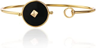 Classic women's accessories gold-plated open-ended round bracelet can be superimposed on the bracelet