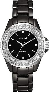 MESTIGE Womens Quartz Watch, Analog Display and Brass Strap MSWA3189