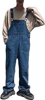 Bestmoodデニムサロペット メンズ オーバーオール デニムパンツ ゆったり ファッション ジーンズ ストリート系 オールインワン 韓国ファッション