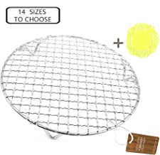 Turbokey Canning Rack Multi-Purpose Round Barbecue Cooling Rack for Steaming with Legs Dia 7.5