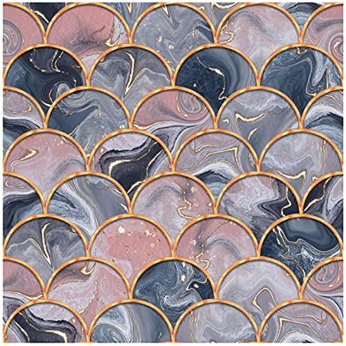 MENGX Impresión de Lienzo de Creatividad, póster de Textura de mármol púrpura geométrico Abstracto e Impresiones imágenes artísticas de Pared Sala de Estar decoración del hogar sin Marco
